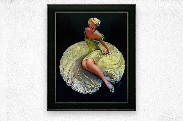 Golden Girl by Roy Best Vintage Illustration Xzendor7 Art Reproductions  Metal print
