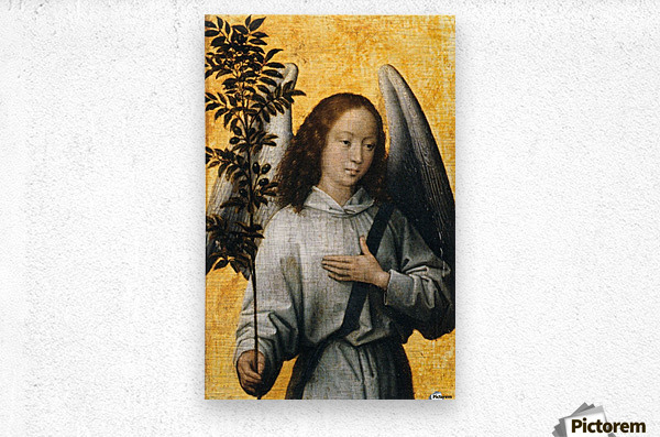 Angel with an Olive Branch Emblem of Divine Peace  Metal print
