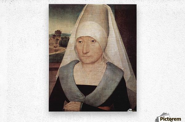 Portrait of an old woman, 1472  Metal print