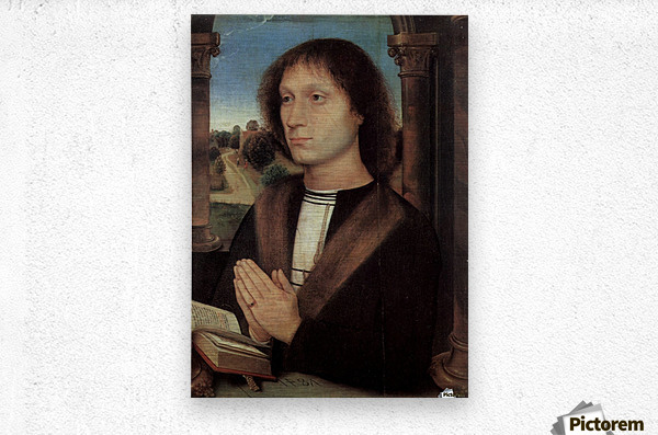 Portrait of Benedetto Portinari, 1487  Metal print