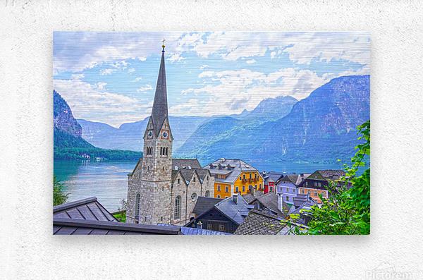 One Fine Day in Hallstatt Austria  Metal print