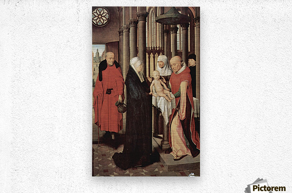 Adoration of the Magi Right wing of triptych, depicting the Presentation in the Temple  Metal print