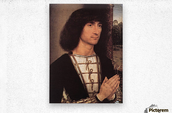 Portrait of a Young Man, 1490  Metal print