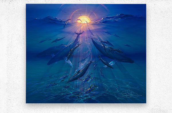 Pacific Sunrise  Metal print