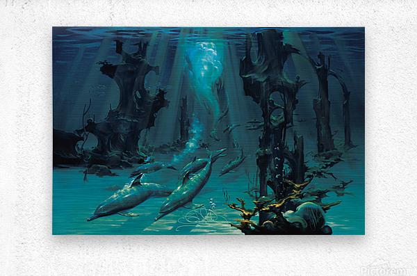 Atlantis Dolphins  Metal print