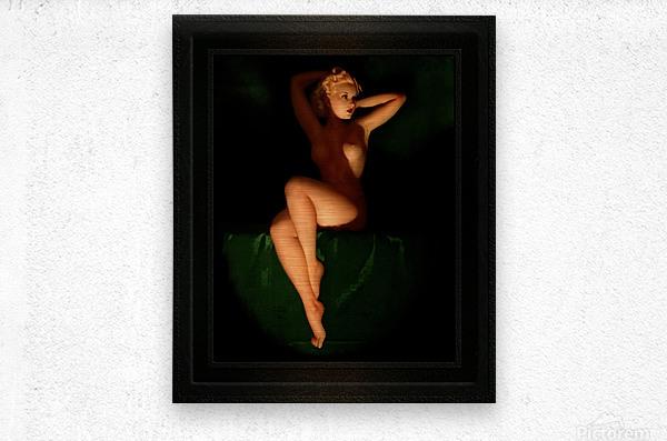 Golden Beauty Queen by Earl Moran Vintage Xzendor7 Old Masters Reproductions  Metal print