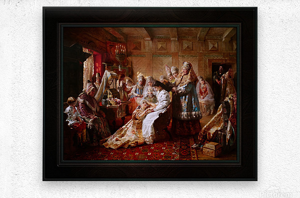 The Russian Brides Attire by Konstantin Makovsky Classical Fine Art Xzendor7 Old Masters Reproductions  Metal print