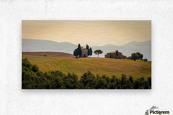 small church in tuscany  Metal print