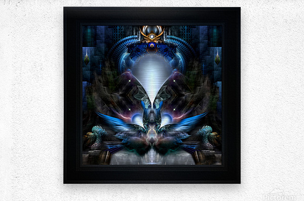 Herald The Light Fractal Wings Digital Art by Xzendor7  Metal print