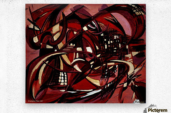 Intimate Still Life with Incidental Intensity  Metal print