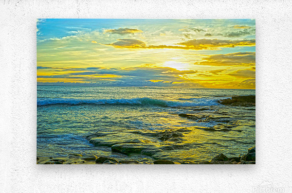 Sunset in Paradise   Hawaii  Metal print