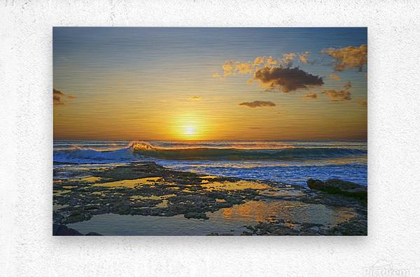 Brilliant Sunset at the Bay Hawaii  Metal print