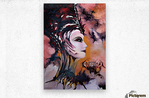 Act with Modern Elegance - Nefertiti  Metal print