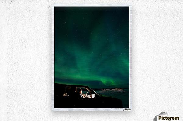 Aurora spectator  Metal print