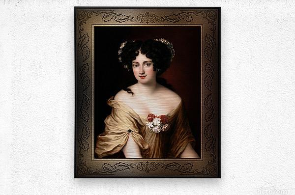 Portrait of Contessa Ortensia Ianna Stella by Jacob Ferdinand Voet Classical Fine Art Xzendor7 Old Masters Reproductions  Metal print