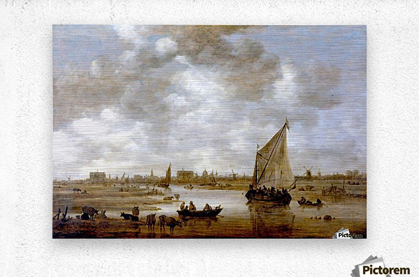View of Leiden from the Northeast  Metal print
