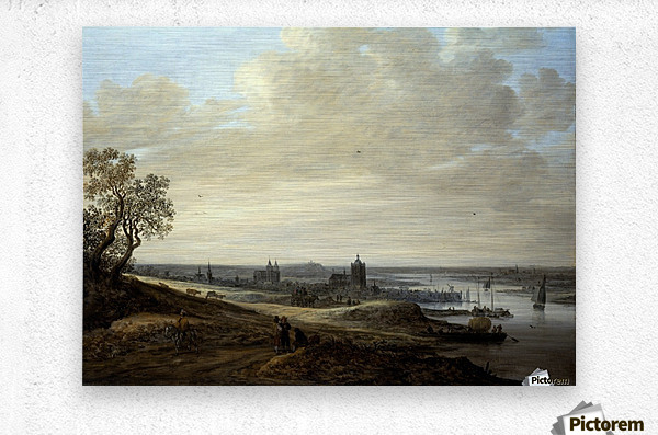 Panorama Landscape with a View of Arnhem  Metal print