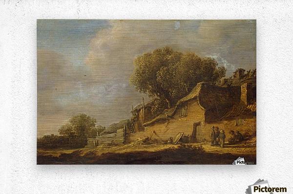 Landscape with a Peasant Cottage  Metal print