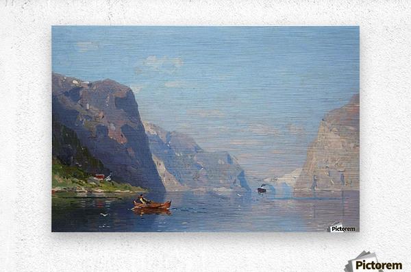 Two Norwegian Fjord Landscapes  Metal print