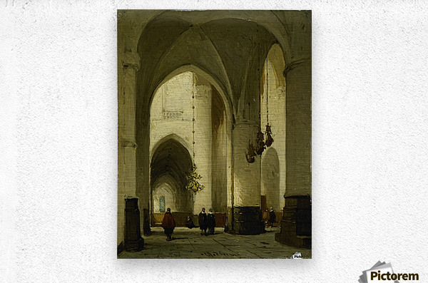 Interieur van de Grote of Sint Bavokerk te Haarlem  Metal print