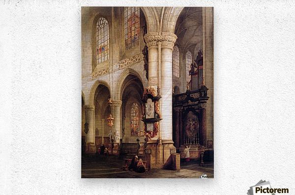 St Jacobskerk Antwerpen Sun  Metal print