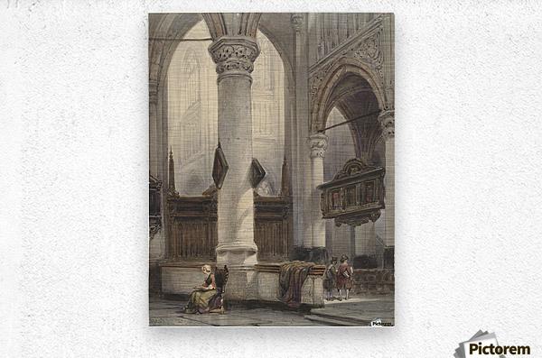 Interieur van de Nieuwe Kerk te Delft  Metal print