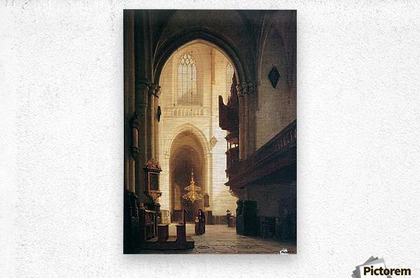 Hooglandse Kerk Leiden Sun  Metal print
