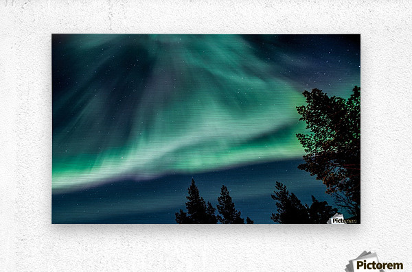 Green sky  Metal print