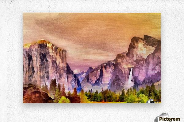 Yosemite park2  Metal print