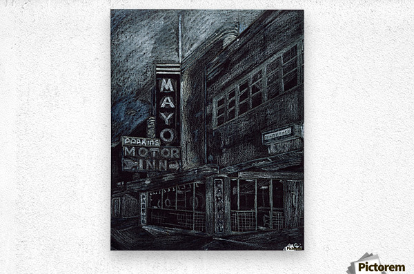 Mayo building  Metal print