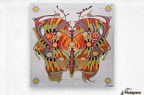 tribal butterfly  Metal print
