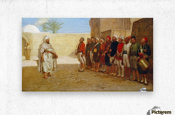 Army Reorganisation in Morocco 1872  Metal print