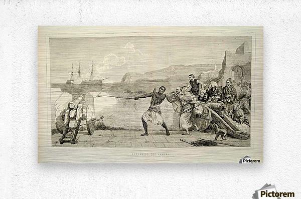 1874 Wood Engraving  Metal print