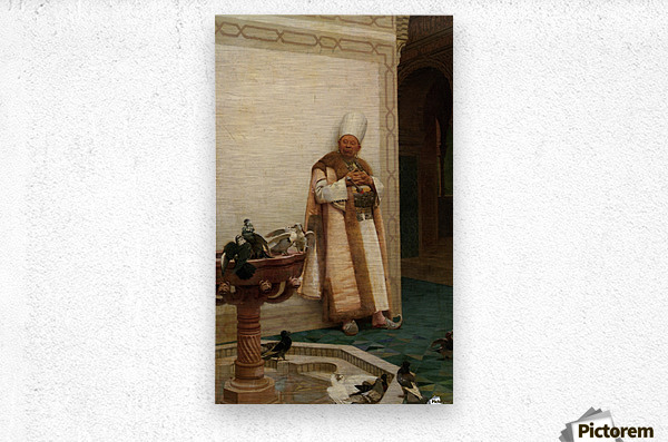 A Grand White Enuch Watching Doves  Metal print