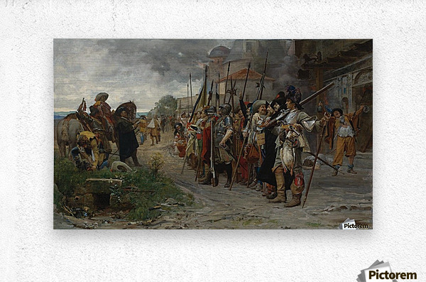 Roll call after the pillage 1866  Metal print