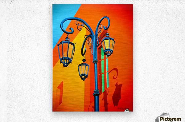 La Boca Lamp Shadows II  Metal print
