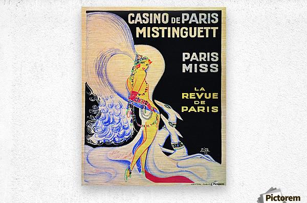 Casino De Paris Mistenguett vintage poster  Metal print