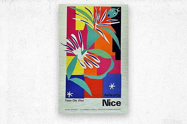 Henri Matisse Original vintage poster for Nice  Metal print