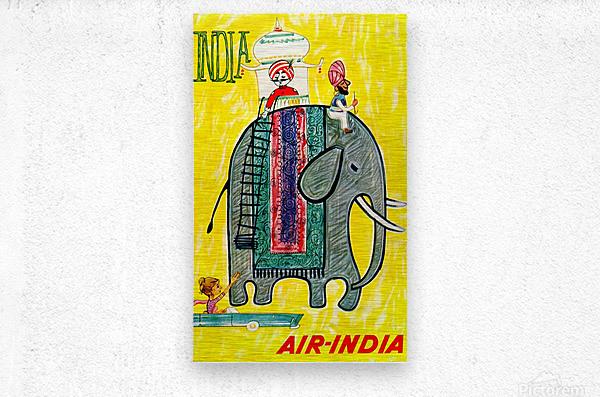 Air-India travel poster  Metal print
