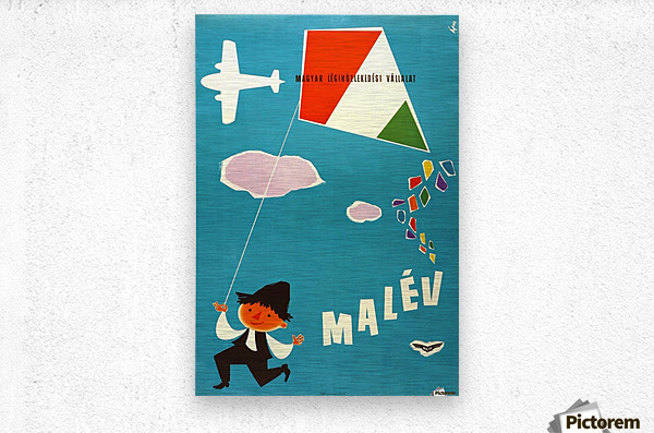 Malev Hungarian Airlines poster  Metal print