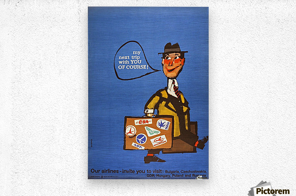 Vintage Interflug Poster  Metal print