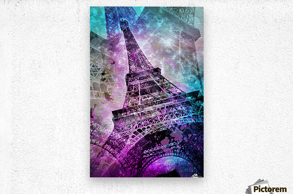 Pop Art Eiffel Tower  Metal print