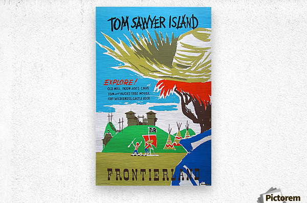 Tom Sawyer Island Poster  Metal print