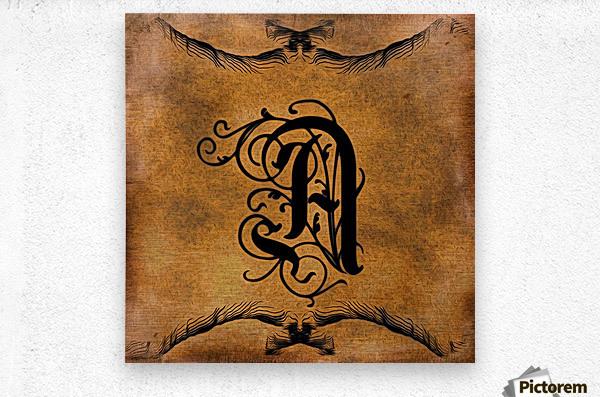 Beautiful Monogram Letter A  Metal print