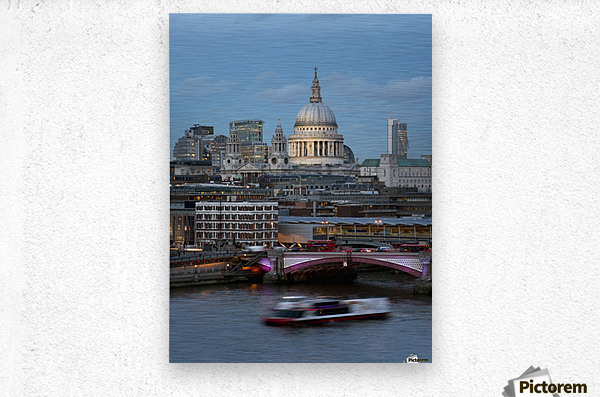 St. Paul's Cathedral and Blackfriars; London, England  Metal print