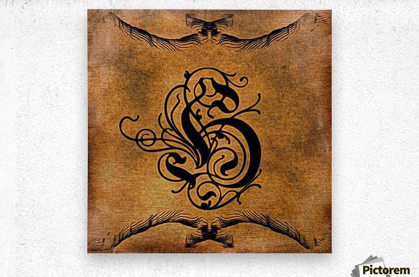 Beautiful Monogram Letter H  Metal print