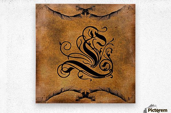 Beautiful Monogram Letter L  Metal print