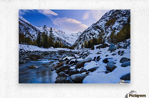 Valnontey torrent, Gran Paradiso National Park; Italy  Metal print