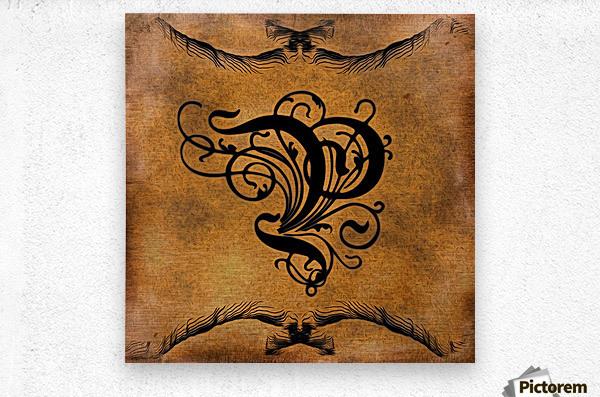 Beautiful Monogram Letter P  Metal print