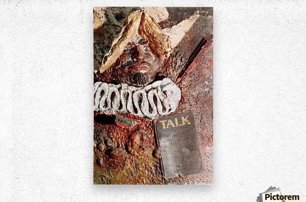 Talk  Metal print